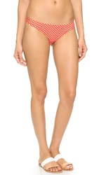Tory Burch Myra Criss Cross Hipster Bikini Bottoms Poppy Red Mali