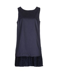 Frankie Morello Dresses Short Dresses Women Blue