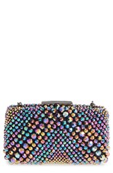 Sondra Roberts Beaded Box Clutch Metallic Multi