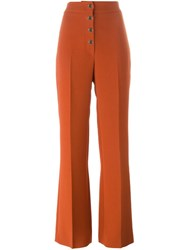 Vanessa Bruno Flared Trousers Yellow And Orange