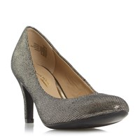 Head Over Heels Annie Round Toe Court Shoes Pewter