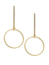 Rj Graziano Geometric Drop Earrings Gold