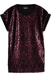 Just Cavalli Embellished Jersey Top