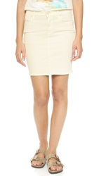 Mother High Waisted Miniskirt Warm Ivory