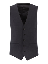 Kenneth Cole Hudson Panama Suit Waistcoat Charcoal