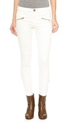 Current Elliott The Soho Zip Corduroy Pant Bone White