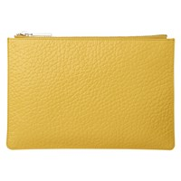 Whistles Bubble Leather Small Clutch Bag Yellow