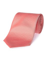 Chester Barrie Silk Seersucker Tie Red