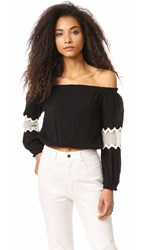Liv Leti Off Shoulder Top Black