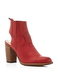 Dolce Vita Jasper Cutout High Heel Booties Red