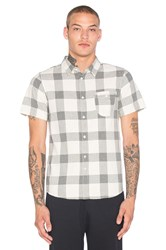 Native Youth Herringbone Check Shirt Beige
