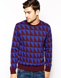 Ps By Paul Smith Jumper With Diamond Pattern