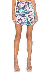 Lucca Couture X Revolve Ruffle Hem Mini Skirt Pink