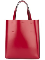 Marni 'Museo' Shopper Tote Red