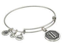 Alex And Ani Initial U Charm Bangle Rafaelian Silver Finish Bracelet