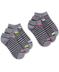 Puma Women's 6 Pk. No Show Socks Charcoal