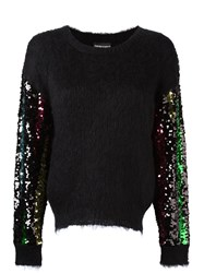 Emporio Armani Sequinned Longsleeved Sweater Black