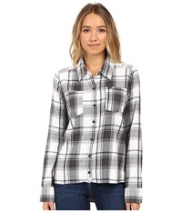 Hurley Wilson Long Sleeve Top White P Women's Long Sleeve Button Up Pink