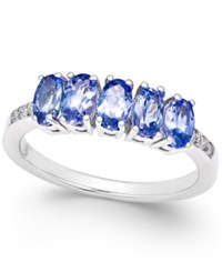 Macy's Tanzanite 1 1 4 Ct. T.W. And Diamond Accent Ring In 14K White Gold