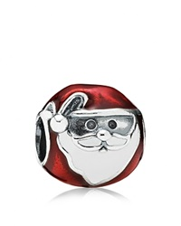 Pandora Design Pandora Charm Sterling Silver And Enamel Jolly Santa Moments Collection Red White Silver