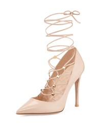 Red Valentino Rockstud Lace Up Pointed Toe Pump Poudre Women's