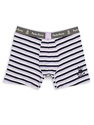 Psycho Bunny Striped Knit Boxer Briefs Lavender Stripe
