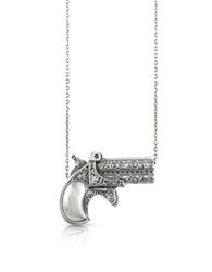 Calibro12 Single Shot Sterling Silver With Ruby Necklace