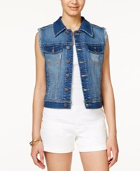 American Rag Gianna Medium Wash Denim Vest Only At Macy's Gianna Wash