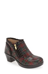 Alegria Women's 'Hannah' Saddle Boot Tartan Red Leather