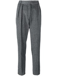 Paul Smith Houndstooth Pleated Trousers Black