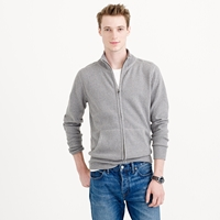 J.Crew Cotton Cashmere Zip Sweater Jacket