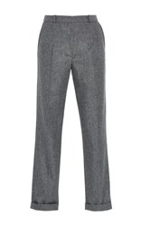 Carven Folded Wool Blend Pant Light Grey