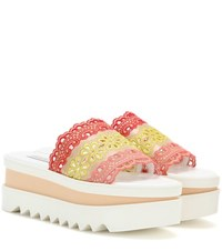 Stella Mccartney Slip On Crochet Platform Sandals Neutrals