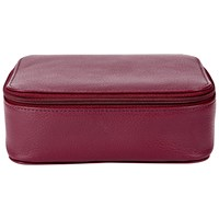 Jaeger Large Leather Trinket Box Cherry