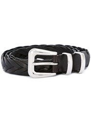 Brunello Cucinelli Braided Belt Brown
