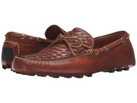 Frye Russell Woven Cognac Oiled Vintage Men's Slip On Shoes Brown