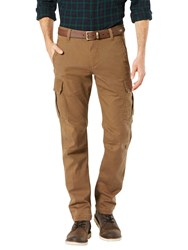 Dockers Slim Fit Twill Field Cargo Trousers Tobacco