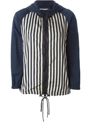 L'autre Chose Stripped Panel Hooded Jacket