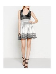 Just Cavalli Knitted Pleated Dress White Black