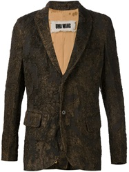 Uma Wang Brocade Blazer Brown