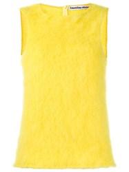 Faustine Steinmetz Sleeveless Knitted Top Yellow Orange