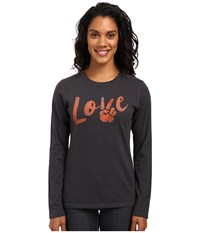 Life Is Good Love Peace Long Sleeve Crusher Tee Night Black Women's Long Sleeve Pullover