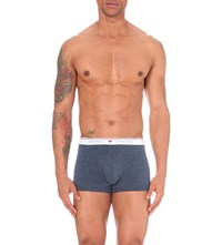 Dsquared2 Maple Leaf Stretch Cotton Trunks Blue Melange
