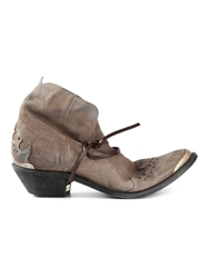 Golden Goose Deluxe Brand Ankle Cowboy Boots Nude And Neutrals