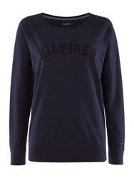 Tommy Hilfiger Iconic Track Loungewear Sweat Top Navy