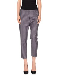 Mauro Grifoni Trousers 3 4 Length Trousers Women Purple