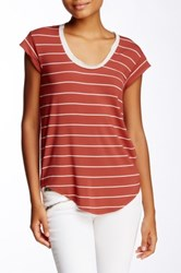 Heather By Bordeaux Scoop Neck Tee Red