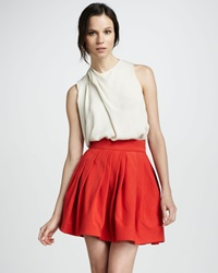 Halston Heritage Pleated Bell Skirt With Pockets 2