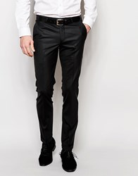 Noose And Monkey Trousers With Stretch And Turn Up In Skinny Fit Black