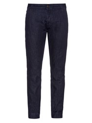 Tomas Maier Low Rise Tapered Jeans Dark Navy